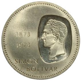 Moneda Venezuela De 10 Bolívares, Doblón 1973 Canto Al Revés