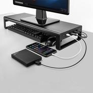 Base Soporte Escritorio Monitor Compu Aluminio Dock Usb 3.0