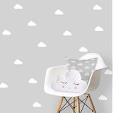 Adesivo Infantil Decorativo, Nuvens 100 Unidades 7x3,5 Cm