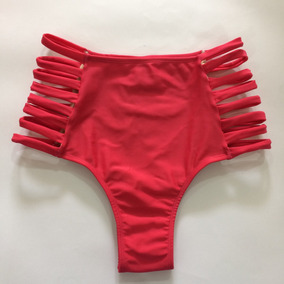 Biquini Plusize Hot Pants Cintura Alta Temos Morena Rosa