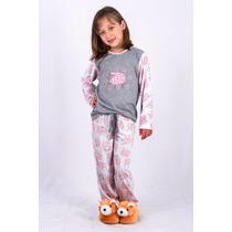 Pijama Feminino Inverno Infantil Malha - Pijama Ovelhinhas