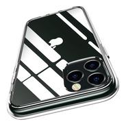 Carcasa Clear + Vidrio 3d iPhone 12 Pro Transparente