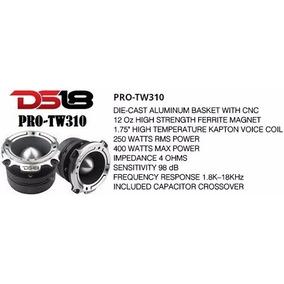 Par De Tweeter Bala Ds18 Super Titanio Protw310 De 400 Watts