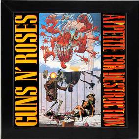 Quadro Lp Guns N Roses Appetite For Destruction Capa Disco
