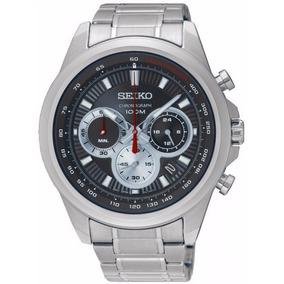 Reloj Seiko Ssb241 Hombre Cronografo Plateado Garantia