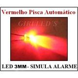 Led 3mm Pisca Pisca Vermelho- 20 Pç= 30 Reais- Simula Alarme