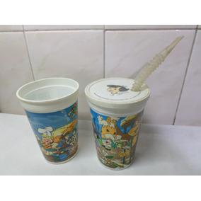 Vasos Los Picapiedras Pepsi 1994 Con Sorbete Lote X 2