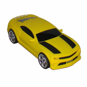 Camaro Amarelo Caixa De Som Portátil Mp3 Rádio Fm Pen Drive