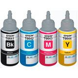 Tintas Originales Epson - T6641, T6642, T6643, T6644.