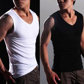 Camiseta Regata Masculina, Tecido Canelado Ribana Academia