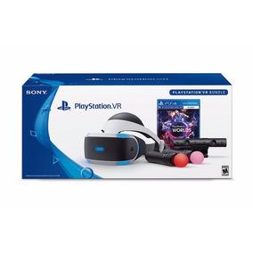 Playstation 4 Vr - Óculos + Câmera + 2 Move + Jogo Vr Worlds