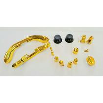 Botonera Para Control De Xbox 360 Color Amarillo Cromado