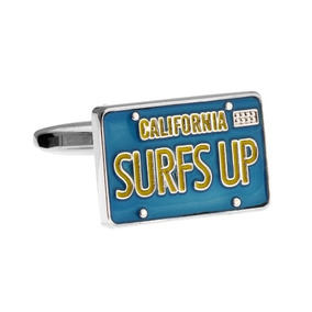 Mancuernillas Placas Letrero California Surf Up Auto C21