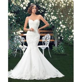 Vestido De Noiva Sereia Tomara Que Caia Calda Longa Sexy