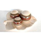 Enfeite Centro De Mesa Em Ceramica Com 3 Bolas