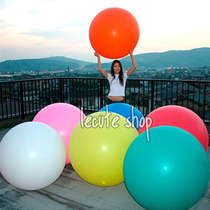 10 Globos Gigantes Ovalados 1m Latex Fiesta Decora