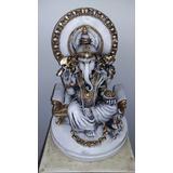 Ganesha Ganesh Hindu Shiva Parvati Yoga Lottus Estatua Gesso