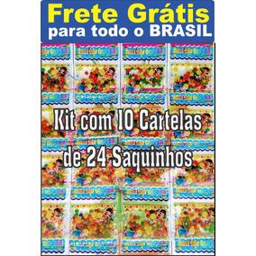 Kit 15 Cartelas Com 24 Saquinhos Bolinha Gel Frete Grátis
