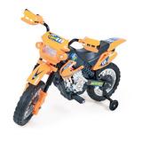 Moto Elétrica Infantil Super Moto Motocross Barata Laranja