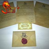 Carta De Aceitação De Hogwarts Personalizada - Frete Grátis