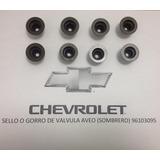 Jgo Gorros (16) - Sellos De Válvulas Chevrolet Aveo 96840122