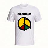 Camiseta Olodum Banda Axé Reggae Camisa Manga Curta Branca