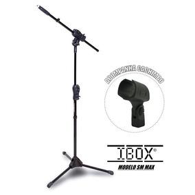Pedestal Suporte Para Microfone Girafa Max Ibox+cachimbo
