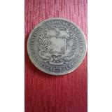 5 Bolivares De Plata 1879. ( Fuerte ).