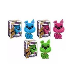 Funko Pop Set 3 Scooby Doo Flocked Sdcc 2017 Blue Pink Green