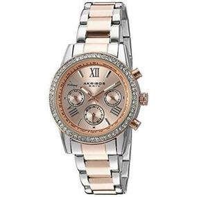 Akribos Xxiv Reloj De Vestir Ak872ttr Rosa/plata