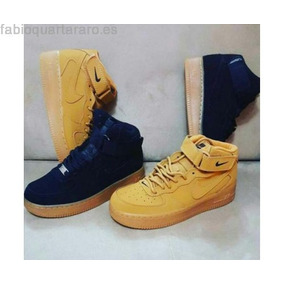 Botas Nike Air Force One Para Niños Color Oro