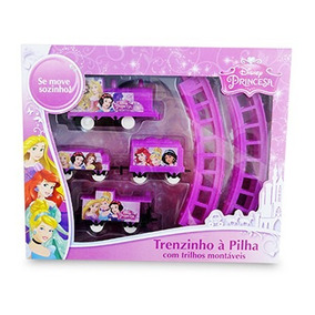 Trem Disney Princesas Ferrorama Trenzinho Locomotiva 12p