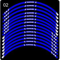Calcos Aros Llantas Kawasaki Versys Reflectivos Fabricantes