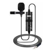 Microfone Lapela Boya By-m1 Omnidirecional Fio De 6 Metros