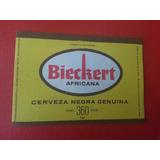 Antigua Etiqueta Cerveza Bieckert Africana Negra