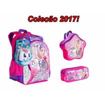 Kit Mochila G +lancheira+estojo Barbie Aventura Nas Estrelas