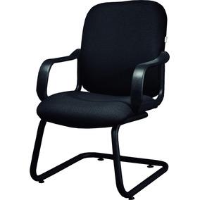 Sillón De Visita Comfort Tapizado Base Trineo Para Oficina