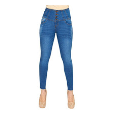 Jeans Para Mujer Casuales Incognita Push Up Stone Medio