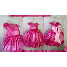 Vestido Infantil Festa Princesa Pink