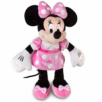 Boneca Pelúcia Minnie Mouse Rosa Original Disney 50cm