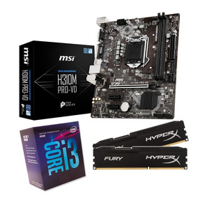 Kit Intel I3-8100 + Msi H310m Pro Vd + 2x4gb Ddr4 Hyperx