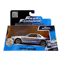 Fast And Furious Jada Nissan Skyline Gt R R34 2002 Plata1/32