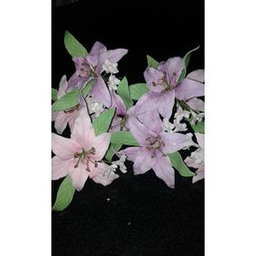 Flores Lirio En Porcelana Fria