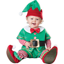 Disfraz De Navidad De Duende Bebe T. 6 - 12 Meses Dhl Gratis
