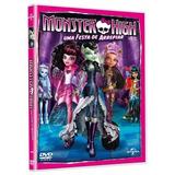 Monster High Uma Festa De Arrepiar Dvd Original Novo Lacrado