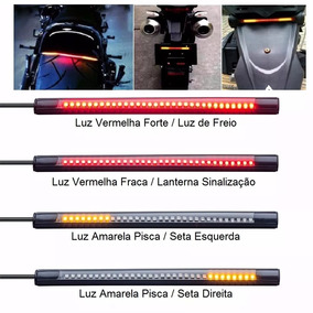 Break Light Luz De Led Freio Seta Lanterna Moto Carro 12v.