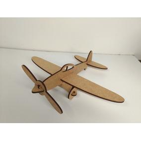 Mini Avião Em Mdf Corte A Laser.(leia A Descrição)