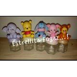 Frasco 40cc Decorado En Porcelana Fria.winnie Pooh & Friends