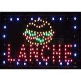 Letreiro Luminoso De Led Lanche Novo 110v Para Loja Painel