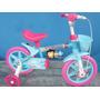 Bicicleta Feminina Aro 12 Frozen Infantil Menina Criança